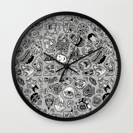 heaps of heads Wall Clock