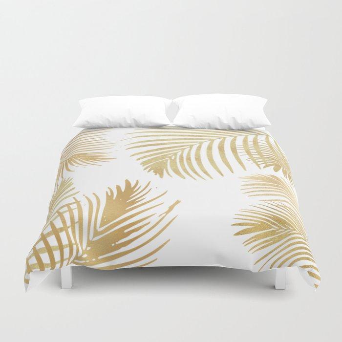 Gold Palm Leaves Bettbezug