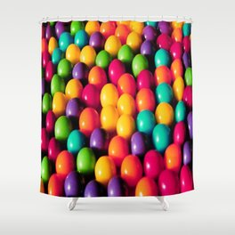 Rainbow Candy: Gumballs Shower Curtain