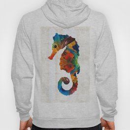Colorful Seahorse Art by Sharon Cummings Hoody