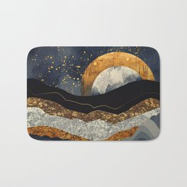 Metallic Mountains Bath Mat