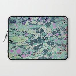 Sunken Forest marbleized print Laptop Sleeve