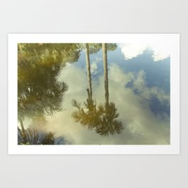 In paradise there are palmtrees, Peru Art Print