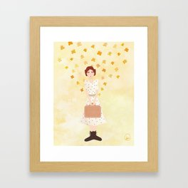 goodbye, butterfly Framed Art Print