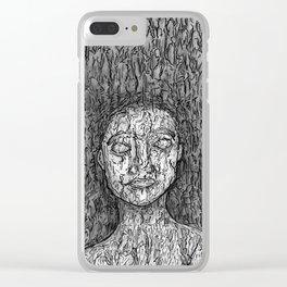 Kasia Tree Clear iPhone Case