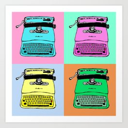 Let's warholize! Olivetti lettera22-style full of color Art Print