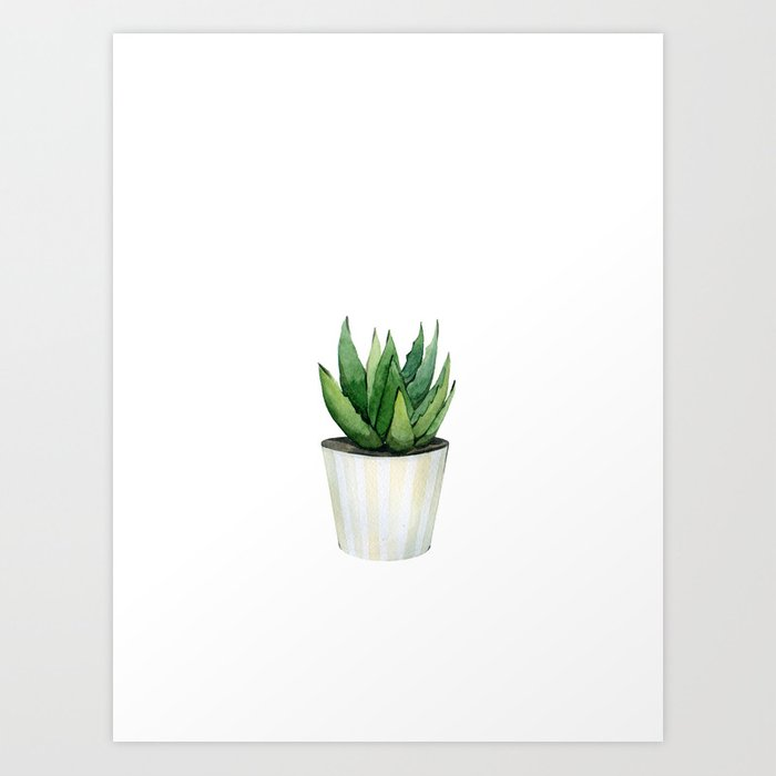Discover the motif ALOE VERA by Art by ASolo as a print at TOPPOSTER