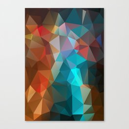 Abstract bright background of triangles polygon print illustration Canvas Print