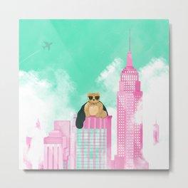 Teddy Bear in New York Metal Print