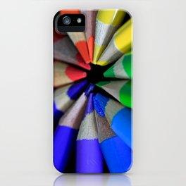 Multi Color Pencils iPhone Case