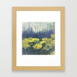 Small Summer Garden Framed Art Print