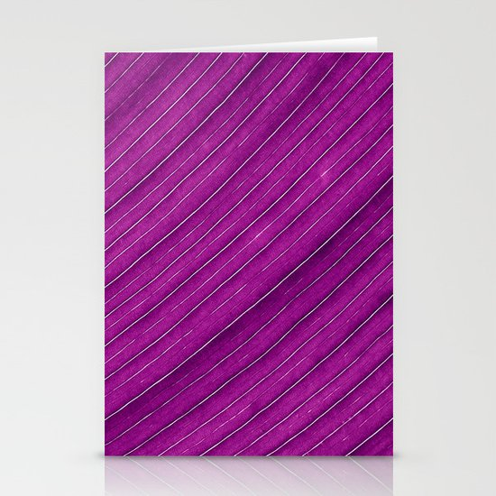 purple banana leaf Stationery Cards