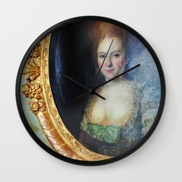 Roccoco Apple blossom Wall Clock