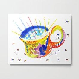Painted Cup Metal Print