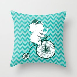 Elegant Elephant Throw Pillow