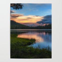 Dreaming Juanita Lake in Northen California Poster