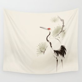 Oriental Red-Crowned Crane 002 Wall Tapestry