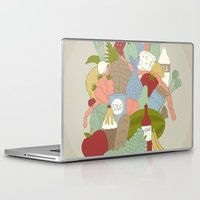 food Laptop & iPad Skins featuring FOOD by Nora