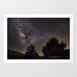 Milkyway at the mountains. Saggitarius Antares and Rho Ophiuchus Art Print