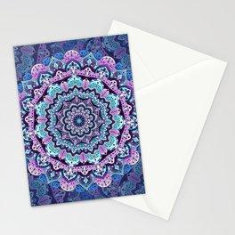 Winter beautiful mandala blue and purple Stationery Cards