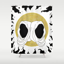 two hoods Shower Curtain