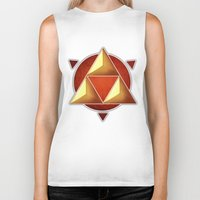 triforce Biker Tanks featuring Triforce by lythy