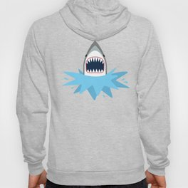 Cartoon Shark Splash Hoody