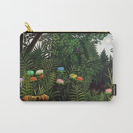 Jungle with Tiger and Hunters by Henri Rousseau Carry-All Pouch
