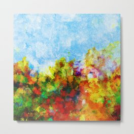 Colorful and Abstract Scenery Painting Metal Print