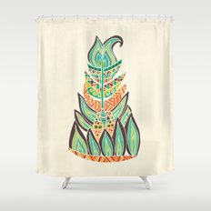 Tribal Feather Shower Curtain