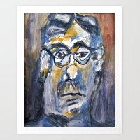 dad Art Prints featuring Dad by ellen z salov