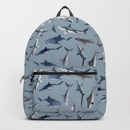 SHARKS PATTERN (LIGHT BLUE) Backpack