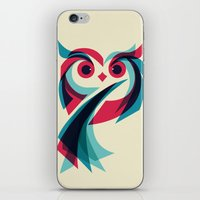 owl iPhone & iPod Skins featuring Owl by Jay Fleck