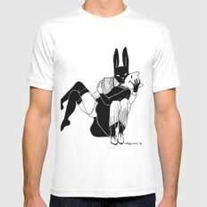 Bunny love White MEDIUM Mens Fitted Tee
