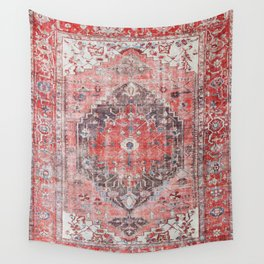 Vintage Anthropologie Farmhouse Traditional Boho Moroccan Style Texture Wall Tapestry