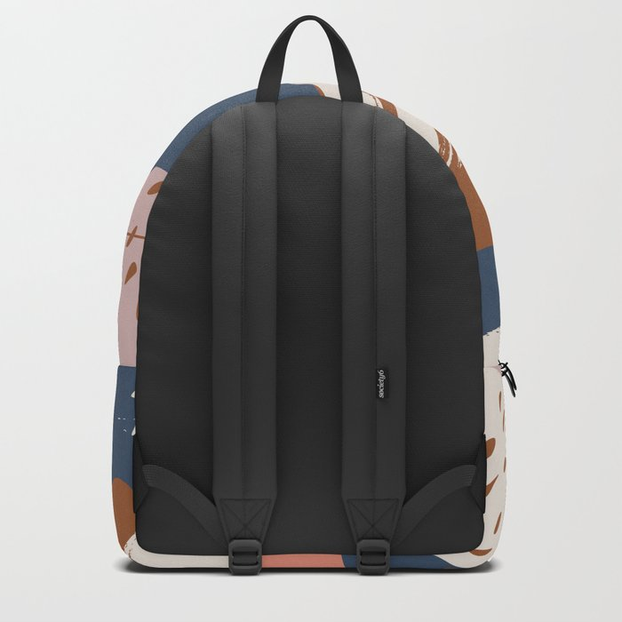Abstract modern shapes 0-01 Backpack