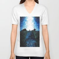 interstellar V-neck T-shirts featuring Interstellar by LucioL