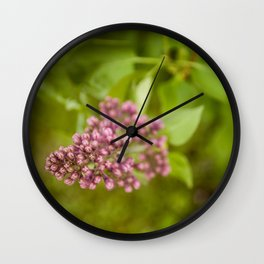 Boutons de lilas (Lilac Bud) by Althéa Photo Wall Clock