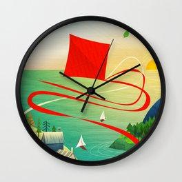 Flying Kite Wall Clock