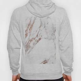 Rose gold foil marble Hoody