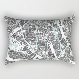 Ghent City Map I Rectangular Pillow