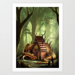 DragonHouse Art Print