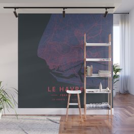 Le Havre, France - Neon Wall Mural