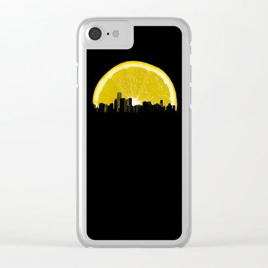 super lemon Clear iPhone Case