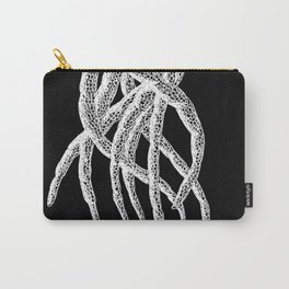 Woodcut Style Cthulu Octopus Tentacles From Above Carry-All Pouch