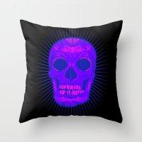 calavera Throw Pillows featuring Calavera by Joe Baron