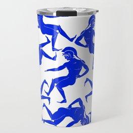 HOPLITES in Blue Travel Mug