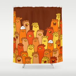 Pile of Clucks Shower Curtain