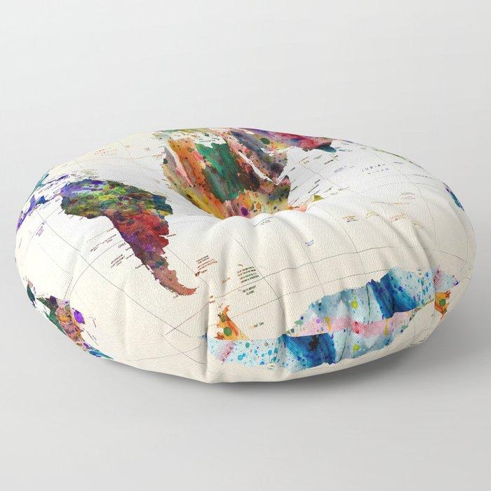 map Floor Pillow