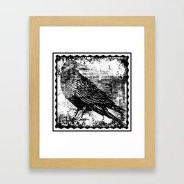Raven - Infrared Framed Art Print